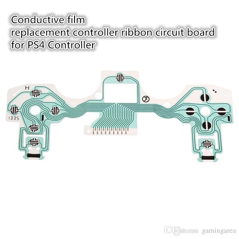 Placa de circuito de fita de botão de substituição de filme condutor para Play Station 4 para PS4 controlador versão antiga DHL FEDEX EMS frete grátis