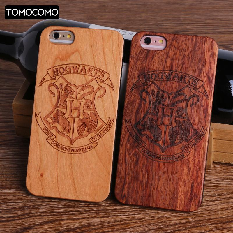 Harry Potter Hogwarts Pattern Design Real Wood Phone Cases Cover for Iphone 7 6 6S 8 Plus 5S SE X XS Max SAMSUNG S8 S9 plus