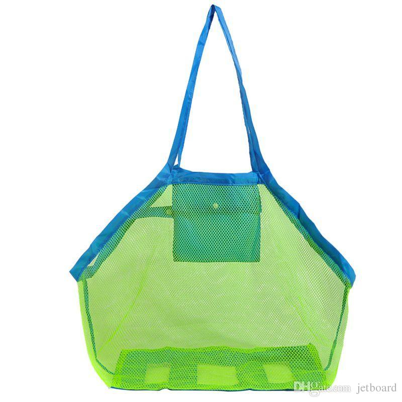 Mesh Tote Bags Sand Away Beach Bag for Children Kids Toys Starfish Shell Collect and Storage Box