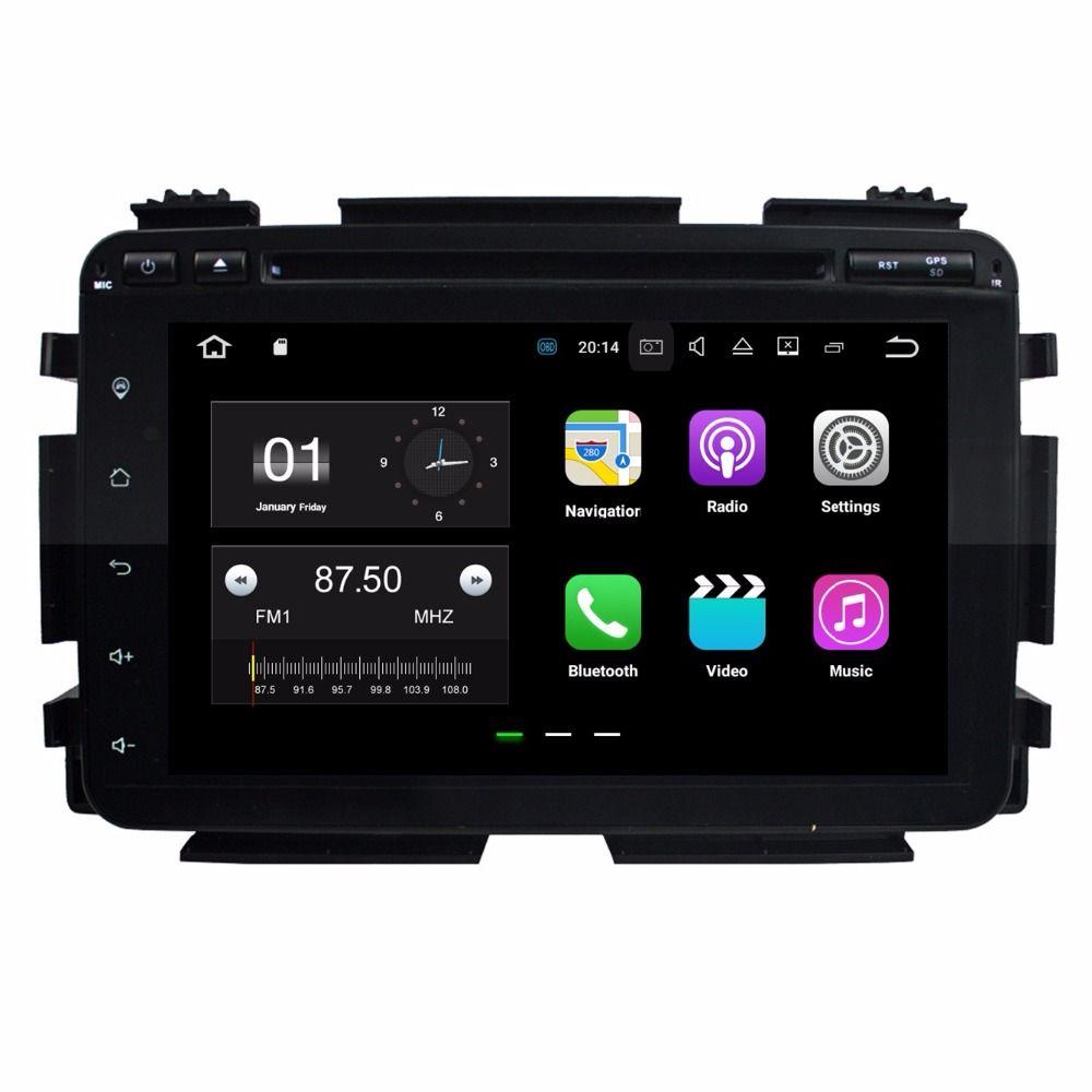 Android 7.1 Dört Çekirdekli Araba DVD Araba Radyo DVD GPS Multimedya Oynatıcı için Honda HRV HR-V VEZEL 2015 2016 2 GB RAM Bluetooth WIFI Ayna-link