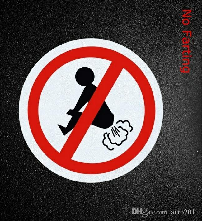 """Do not Fart Funny Non Reflective Light Round Sticker 4/"""""""