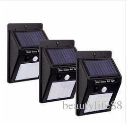 30LED أضواء الشمسية ضوء لمبة التمهيدي في الهواء الطلق للماء استشعار الحركة ip65 مصباح للطاقة الشمسية في الهواء الطلق حديقة ضوء الليل 4pcs