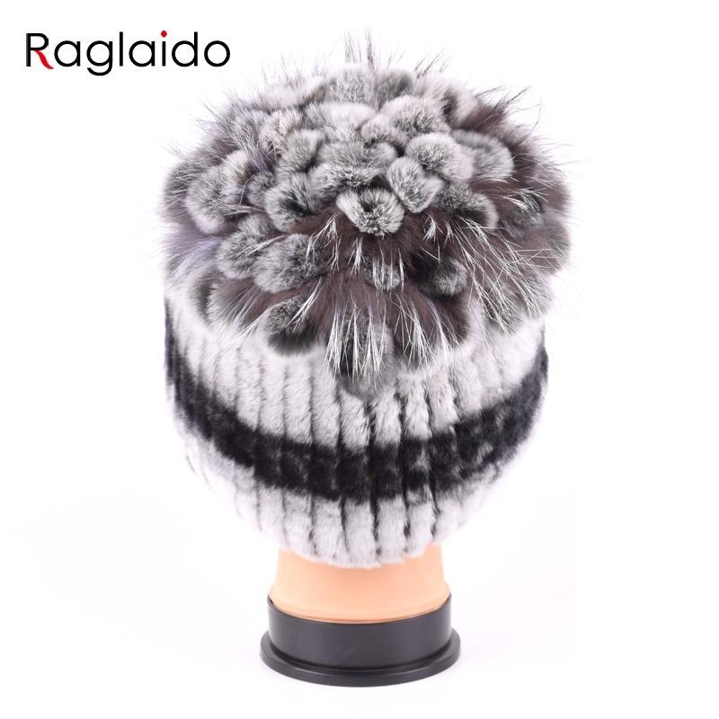 Compre Raglaido Sombreros De Piel Para Mujeres De Invierno Real Rex ...