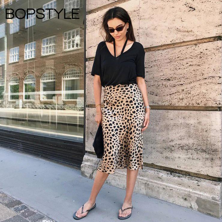 colours and striking 100% genuine durable in use 2019 High End 2018 Silk Satin The Naomi Wild Things Leopard Print 3/4  Length Slip Style Midi Skirt Animal Printed Mermaid Skirt From Beenling,  $105.73 ...