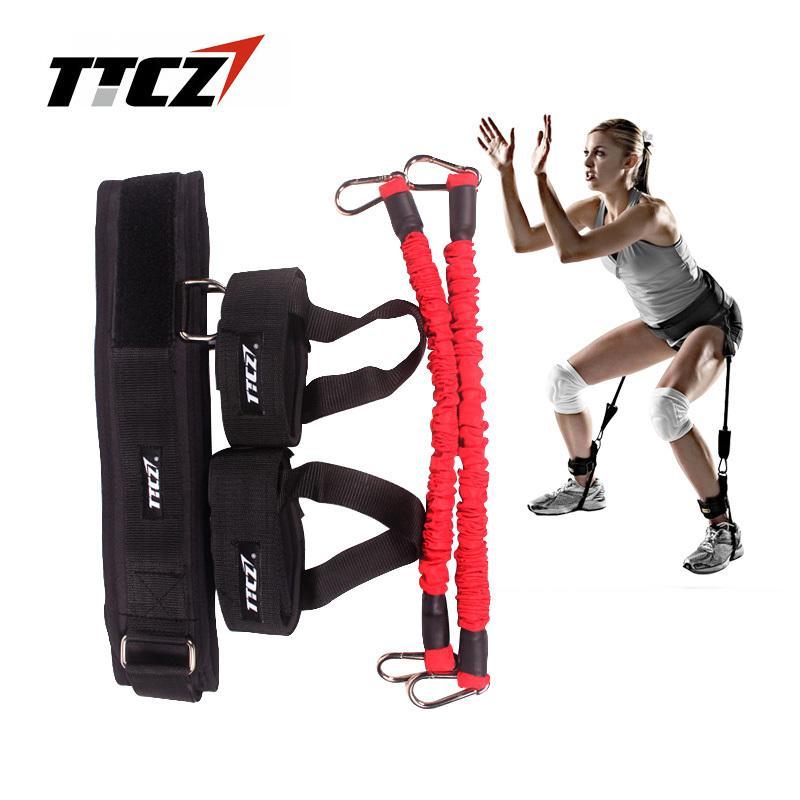 TTCZ Fitness Bounce Trainer Corde Résistance Bandes Basketball Tennis Course À Pied Sauter Jambe Force Agility Training Strap equipment Y1892612