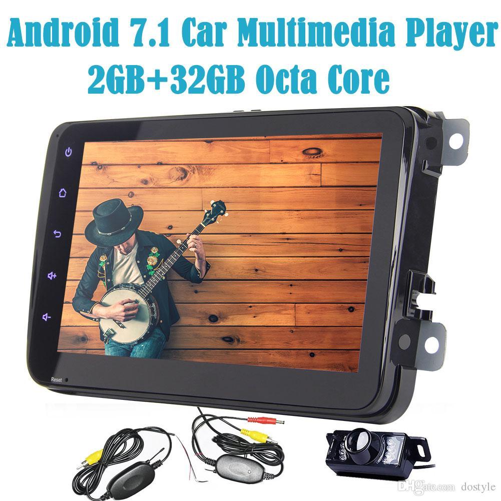 "EinCar 7 /""Android 7.1 Touch Screen Doppel-DIN-Autoradio-Stereo Octa-Core-RAM 2GB ROM 32GB Unterst/ützt GPS Navigation Bluetooth Autoradio Lenkrad-Steuerung Wifi 3G 4G OBD2 DAB-DVR R/ückfahrkamera"
