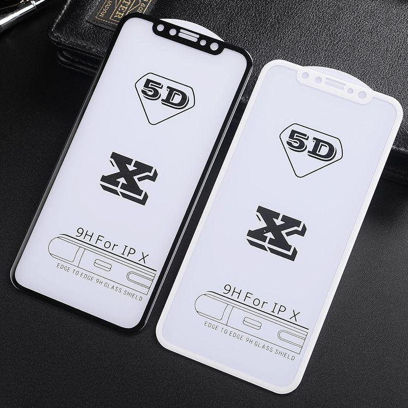 5D Kavisli temperli cam Tam Ekran Koruyucu Film Guard iPhone 11 Pro Max XS XR X 8 Artı 7 6 Samsung Galaxy J2 J3 J5 J7 Pro A6, A8 için