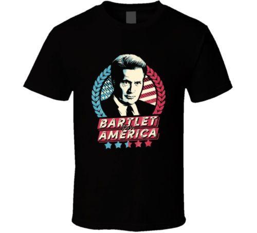 Bartlet For America T-shirt West Wing Tee Tv Show Cool Casual Fierté T-shirt Hommes Unisexe Nouveau Mode T-shirt Livraison Gratuite Tops