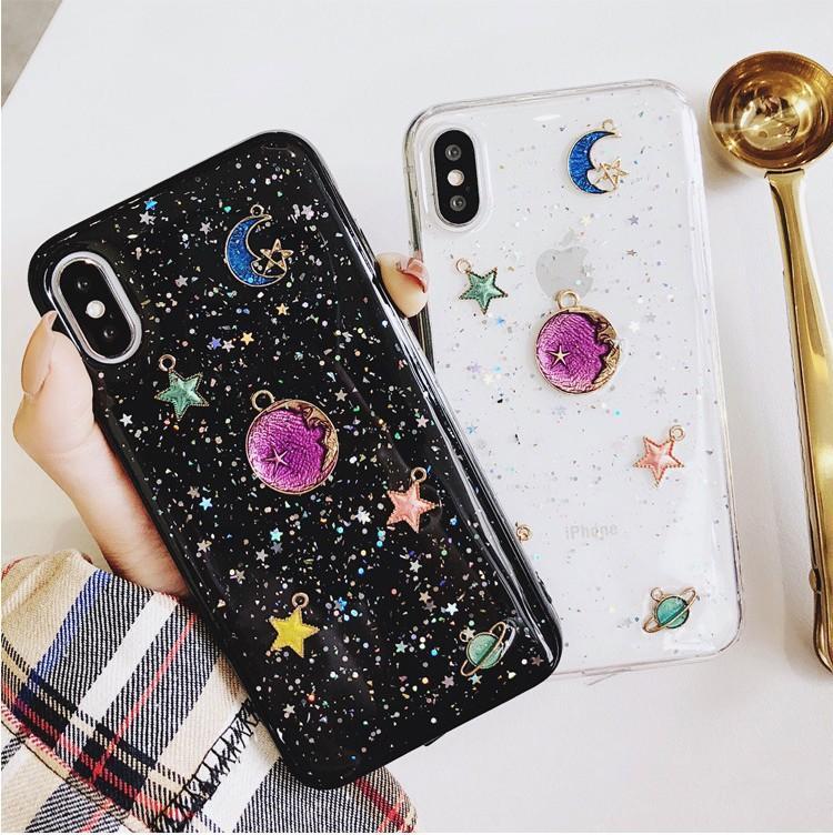Evren Serisi Telefon Kılıfı Için iphone X Durumda iphone 6 6 S 7 8 Artı Blu Ray Kapak Sevimli Gezegen Ay Yıldız Kılıfları
