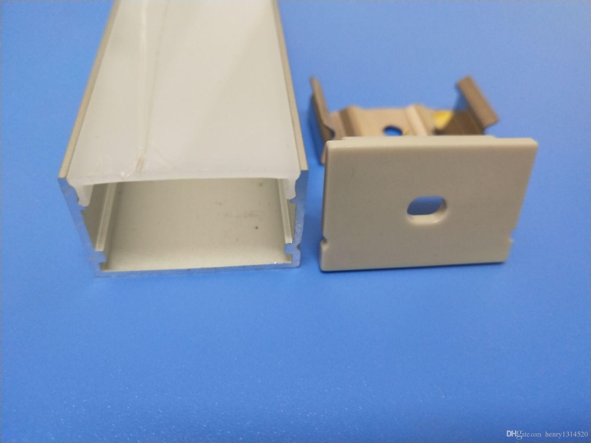 Libero di buona Prezzo profili in lega di alluminio con pareti spesse 6063 ha condotto il profilo in alluminio per le luci di striscia principali