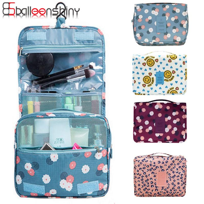 2fa9b503ab01 2019 Cosmetic Toiletries Bag Kit Carry Travel Organizer Hanging Makeup  Foldable Storage Bag With Hook For Traveling Bathroom 2017 New From  Industrial, ...