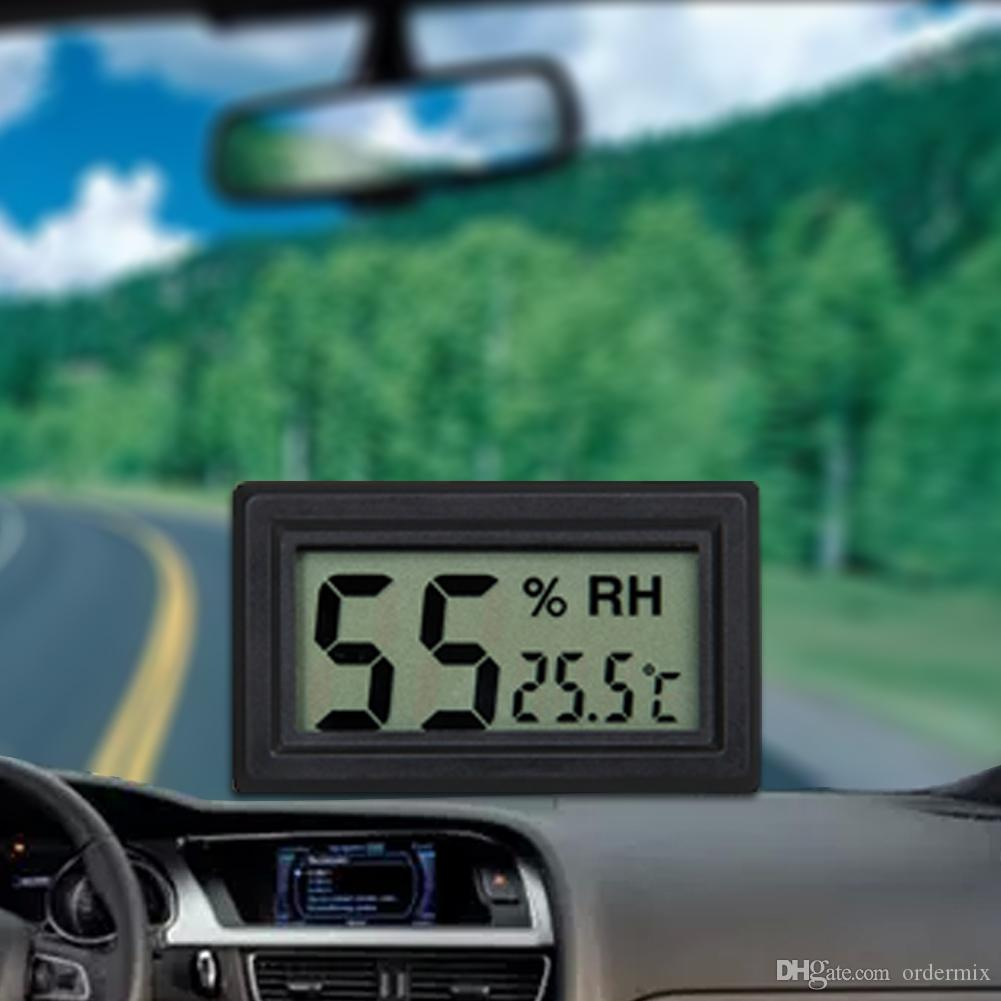 Mini Car Kit LCD Display Digital 2 In 1 Thermometer Mini Thermometer (Built-In Probe) For Pet Reptile Feed