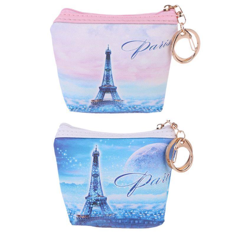Mode Frauen Mädchen Gedruckt Ändern Geldbörse Reißverschluss Brieftasche Schlüsselhalter Tasche