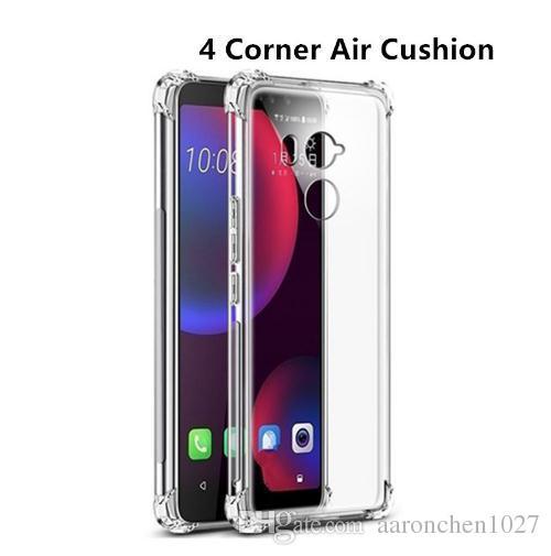 Almofada de ar à prova de choque caso para htc u11 u12 mais vida olhos google pixel 2 3 xl silicone tampa do telefone para htc u play u ultra case