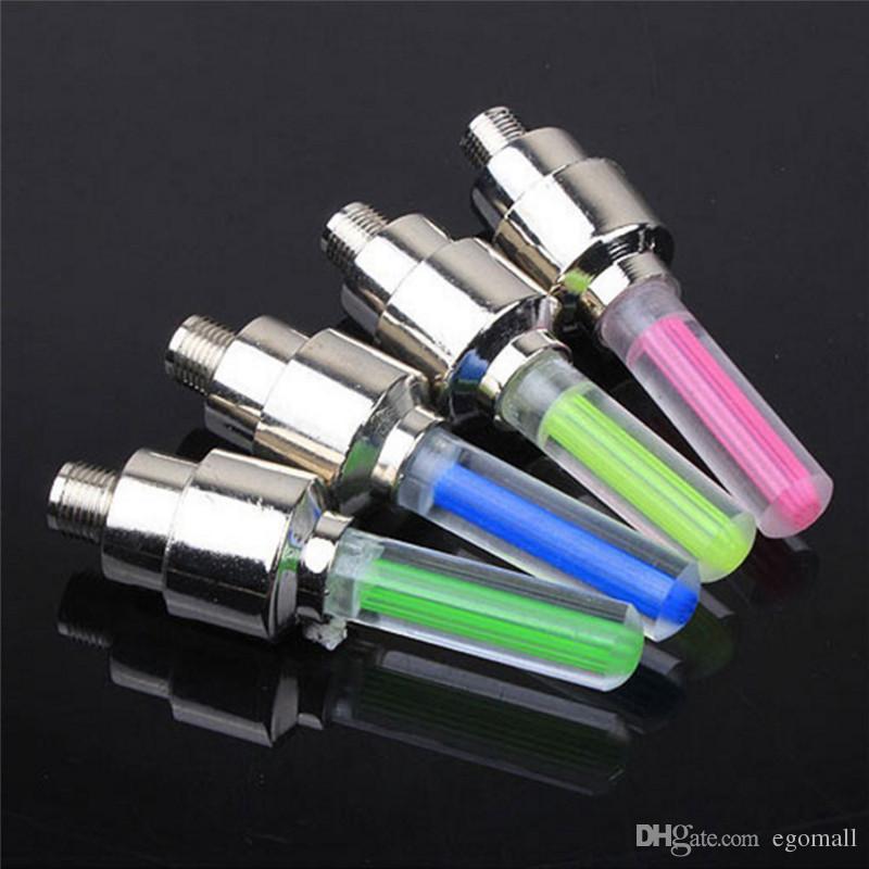 500pcs Firefly Spoke LED Wheel Valve Stem Cap Tire Motion Neon Light Lamp For Bike Bicycle Car Motorcycle