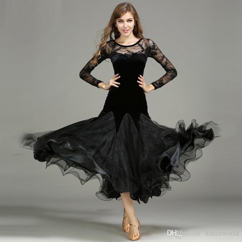 Vestidos de baile Ropa de baile estándar Competencia Vestido de baile estándar Vals Tango Vestido de foxtrot Baile social