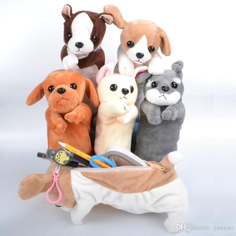 Милый мультфильм Плюшевый пенал творческий прекрасный собака ручка сумка для детей подарок школьные принадлежности корейский карандаш сумка