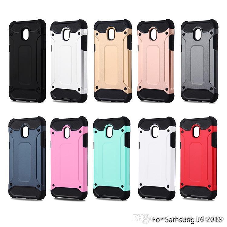 Armor Hybrid Defender Case TPU + PC Schokbestendig Cover Case voor Samsung Galaxy J4 J6 2018 J8 2018 A6 A6 Plus Note 9 J7 DOU 50 stks / partij