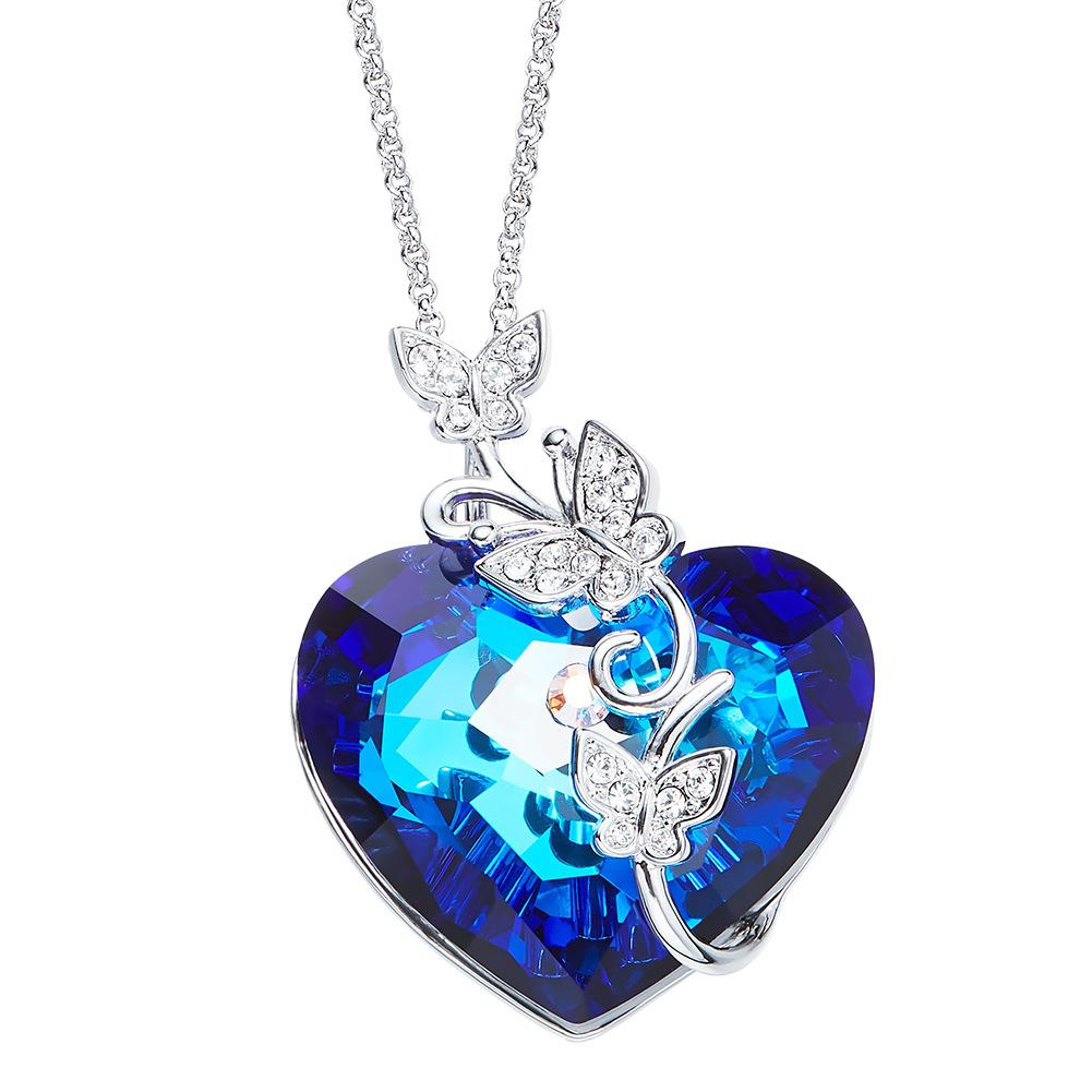 Buy Authentic authentic shop for official Wholesale The New European And American Heart Shaped Crystal Necklace Is  Made Of SWAROVSKI Crystal Pendant. Diamond Pendant Necklace Gold Chain ...