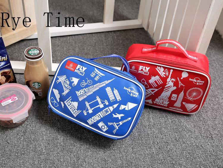 sac isotherme portable mignon de bande dessinée impression boîte à lunch pack de glace fraîche fermeture à glissière pour enfants sacs de pique-nique enfants sac de stockage de lait frais