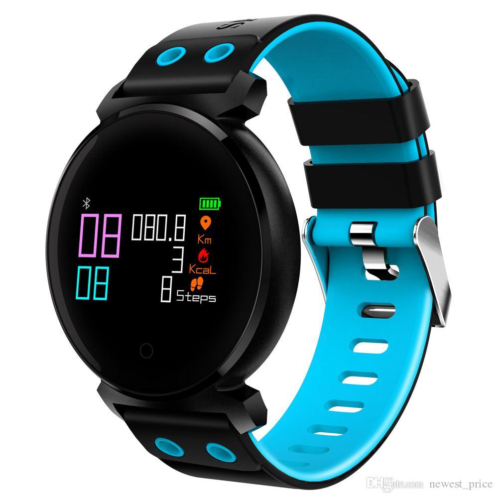 블루투스 스마트 시계 IP68 방수 컬러 OLED 시계 혈액 산소 혈압 심장 박동 모니터 스마트 손목 IOS 안드로이드