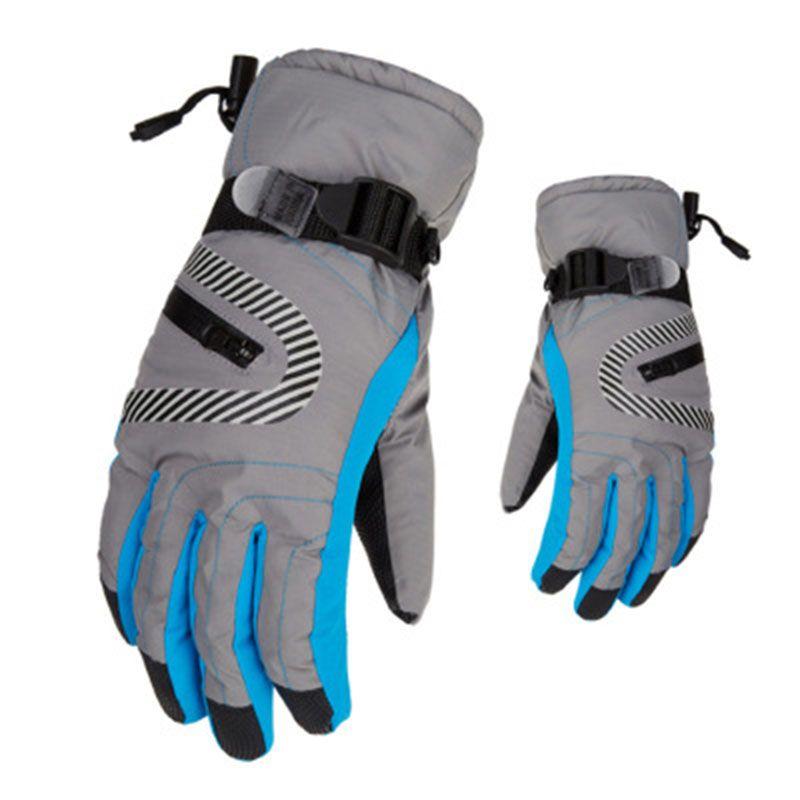 1 par ao ar livre ciclismo luvas de dedo cheio de corrida de esqui escalada ciclismo equitação esporte à prova de vento luvas de motocross
