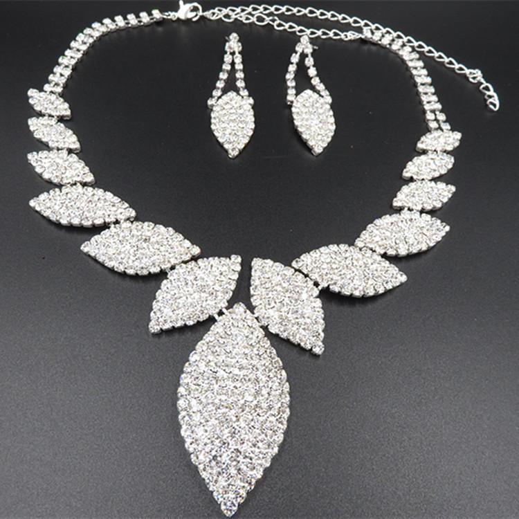 YT009 Bijoux de mariage de haute qualité d'image réel Collier Set alliage de mode collier Set Parures de cristal pour Brides