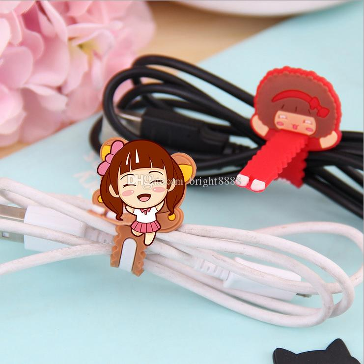 Perforated serrated winder Data cable headphone cord charging cable organizer
