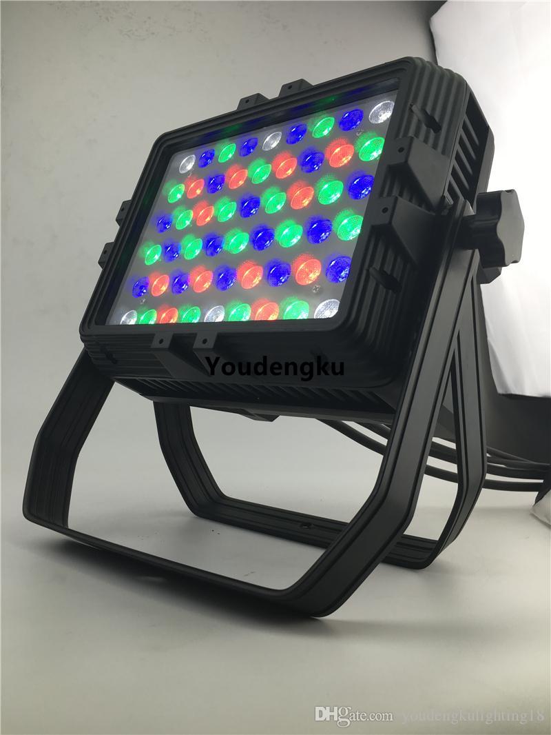 2 parça DMX dört şehir renk 54x3 w rgbw su geçirmez Led par ışık Duvar Yıkayıcı RGBW Led Şehir Renk Işık