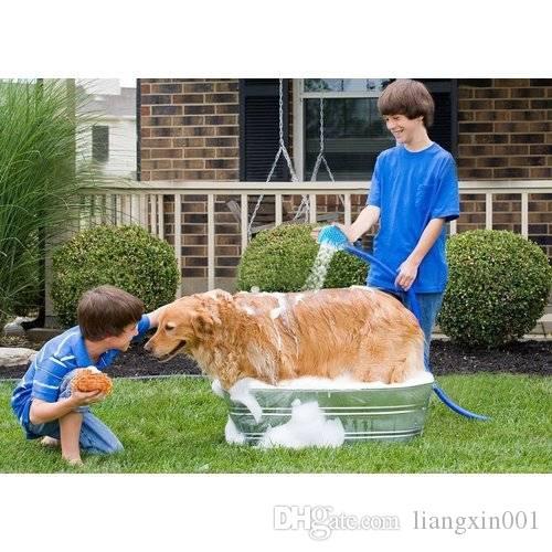 Herramienta de baño para mascotas Masajeador cómodo Herramienta de ducha Limpieza Lavado Rociadores de baño Rociador de perros Rociador de masaje de mano Cepillo de limpieza