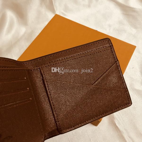Короткое M60895 роскошные дизайнер мужские компактное множество кошелек моно грамм Canvers получении фирменное наименование двойные кошелек Бесплатная доставка хорошее качество