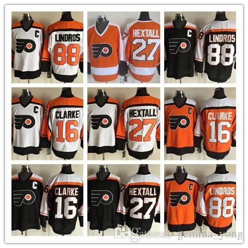 Filadelfia Ulotki Ice Hockey Jakub Worcek Koszulki 93 Tanie Retro 27 Ron Hextall 17 Wayne Simmonds 16 Bobby Clarke 88 Eric Lindros Tanie