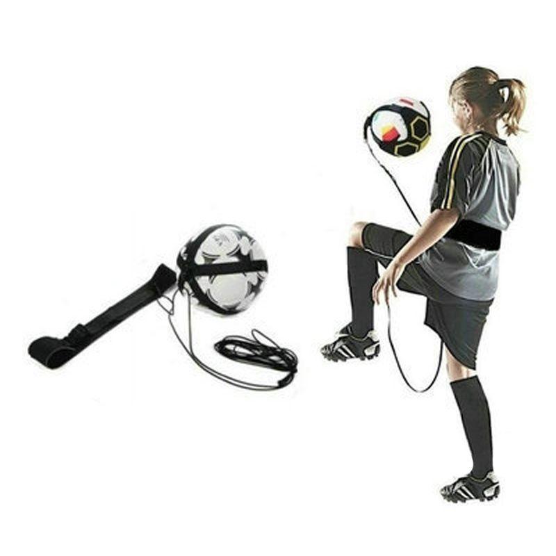 Futebol de mãos livres Juggle Kick / Throw Trainer New Ball Locked Net Design ajustável cinto de cinto para treinamento de juventude