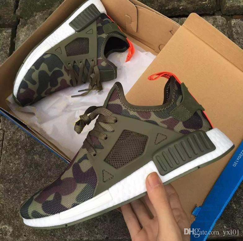 2018 Hot Sale XR1 Runner Duck Camo Green X City Sock Pk R1 Wool Top quality Fashion Running Shoes For Men Women Size 36-45