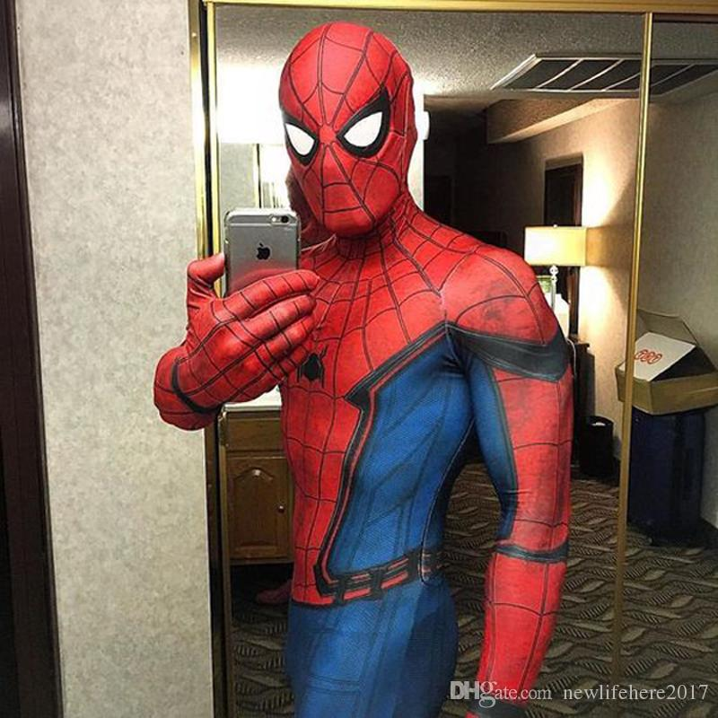2019 New Spiderman Costume Spider Man Homecoming Spiderman 3d