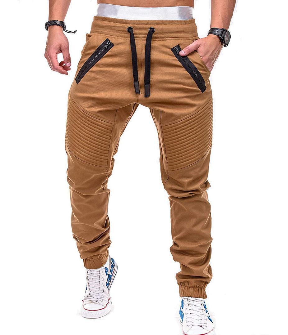 Pleated Short Men Pencil Black Cotton Harem Pants Casual Cargo Hip Hop Pants