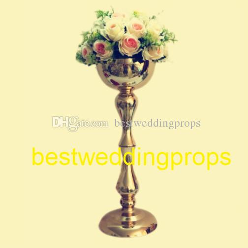 New style gold iron wedding table centerpieces nice centerpiece for wedding party ceremony anniversary flower stand elegant vase best0096