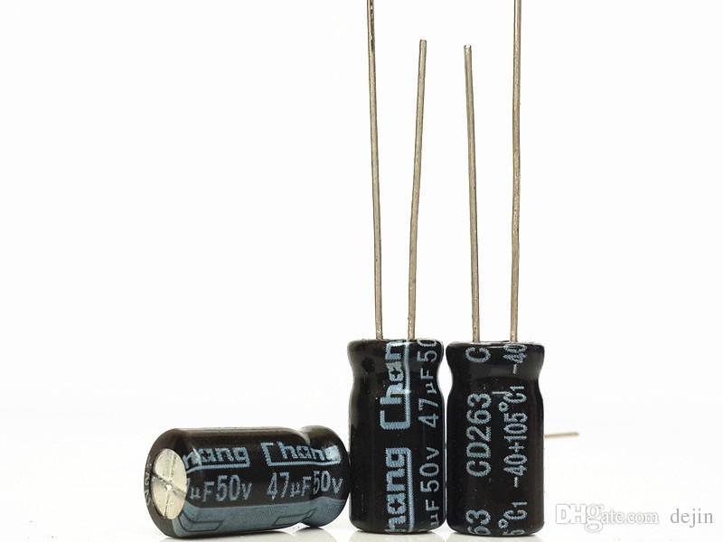 10pcs NEW 47uF 50V 105C ELECTROLYTIC CAPACITORS High Quality