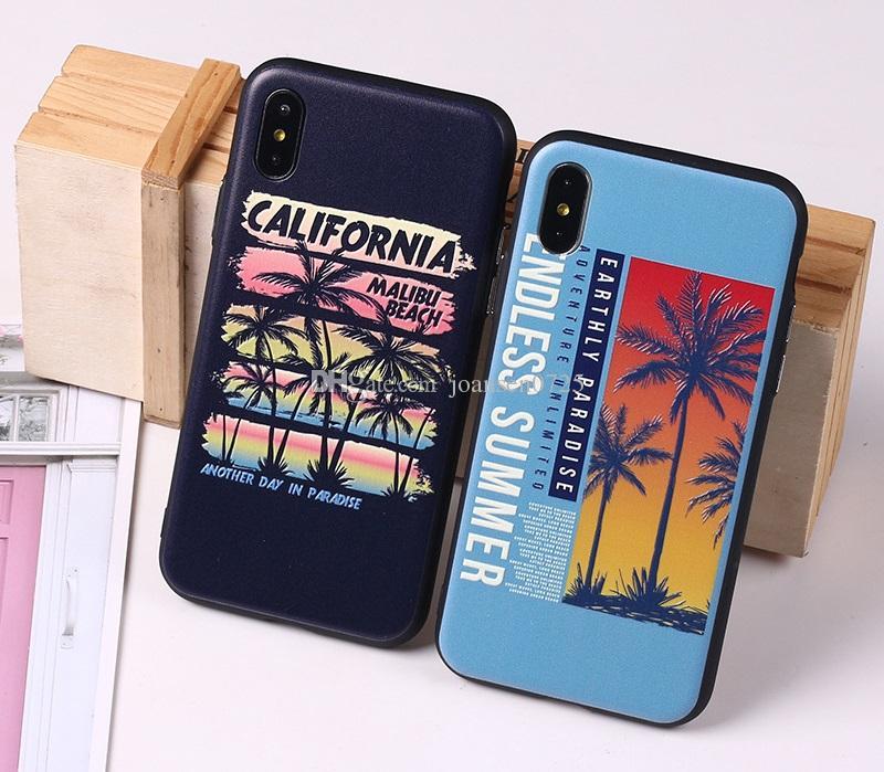 2 in 1 TPU PC gemalte Telefon-Kasten-Muschel-Entlastungs-Haut für iPhone X 8 7 6 6S plus Art- und Weise-englische Wort-Fälle zurück schützende iphone Abdeckung