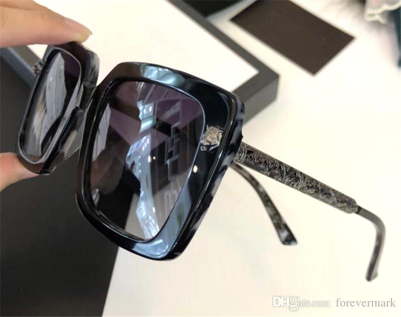 Compre Gafas De Sol Cuadradas Con Marco De Acetato Uv400 Protección ...