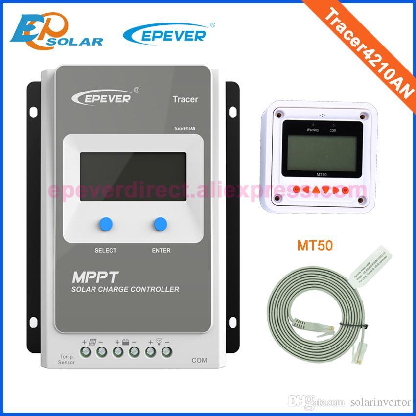 جديد Tracer 4210AN 12v 24v auto work max pv input 100v mppt solar charge control 40a