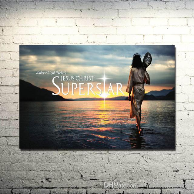1 Pcs Jesus Christ Motivational Art Silk Poster Print 24x36inches Pictures for Wall Decor Silk Painting
