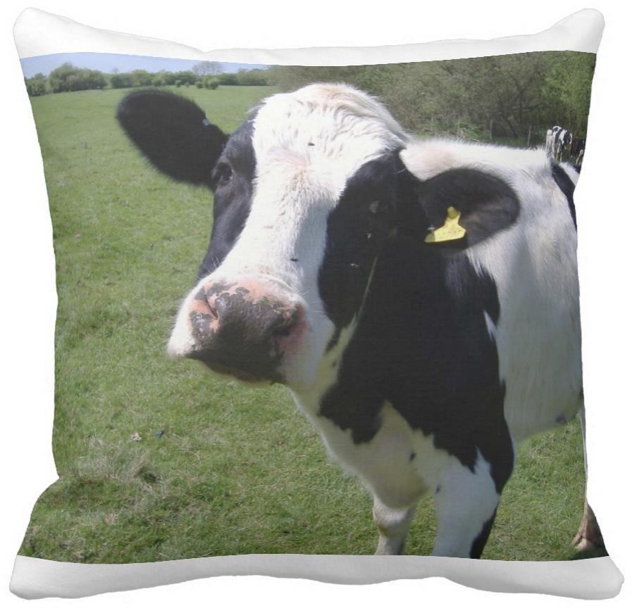 Декоративная корова наволочки можно сопоставить пользовательские фотографии атласная подушка домашнее украшение
