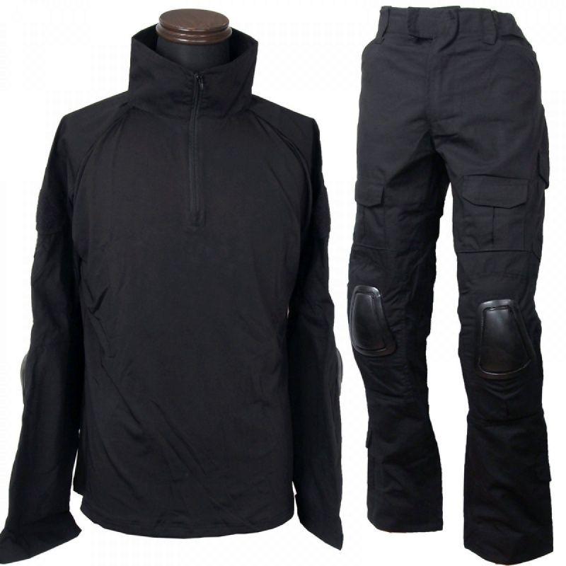 Camisa preta Combate BDU uniformes CQC Exército Tactical Pants Set Outdoor Paintball Hunting Clothes Suit