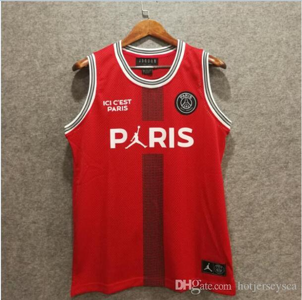 watch 0246b fba31 2019 2019 New PSG Paris Jersey 23 Michael JD Basketball Jerseys PSG X AJ  Basketball Jersey Jordam Paris Saint Germain Red From Top_jersey2, &Price;  | ...