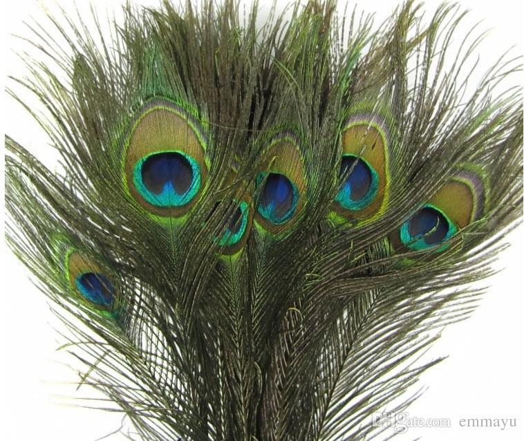 10-12 polegadas belas penas de cauda de pavão para fazer jóias decoração de festa de casamento