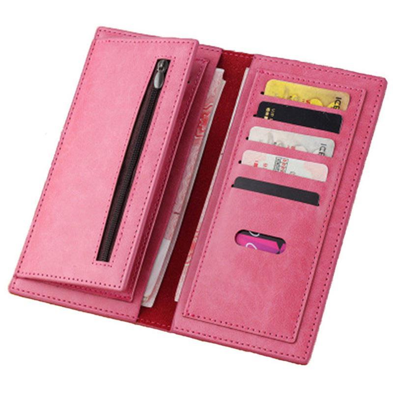 Color wallet Korean triple soft surface High quality PU leather clutch male leather men's purse money clamps