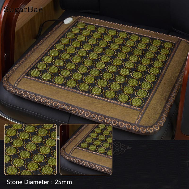 Health Care Mat Heating Jade Cushion Natural Tourmaline Mat Best Gift For Parents 2018 Size 45X45cm For Sale