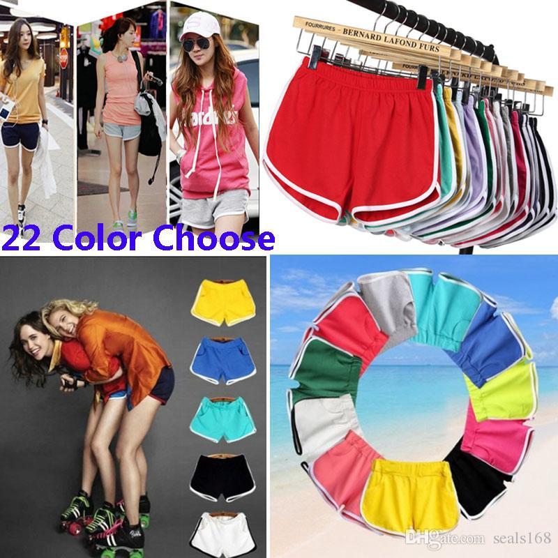 요가 스포츠 체육관 Homewear Fitness 바지 여름 반바지 비치 홈 의류 바지 22 색상 HH7-1215에 대한 여성면 반바지