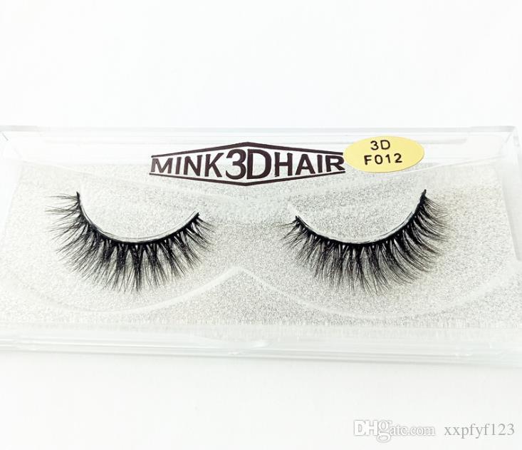 Maquiagem dos olhos 49 estilos 1 par / lote 100% Real Siberian 3D Mink Full Strip Cílios Falsos Longo Cílios Individuais Cílios Vison Extensão A899